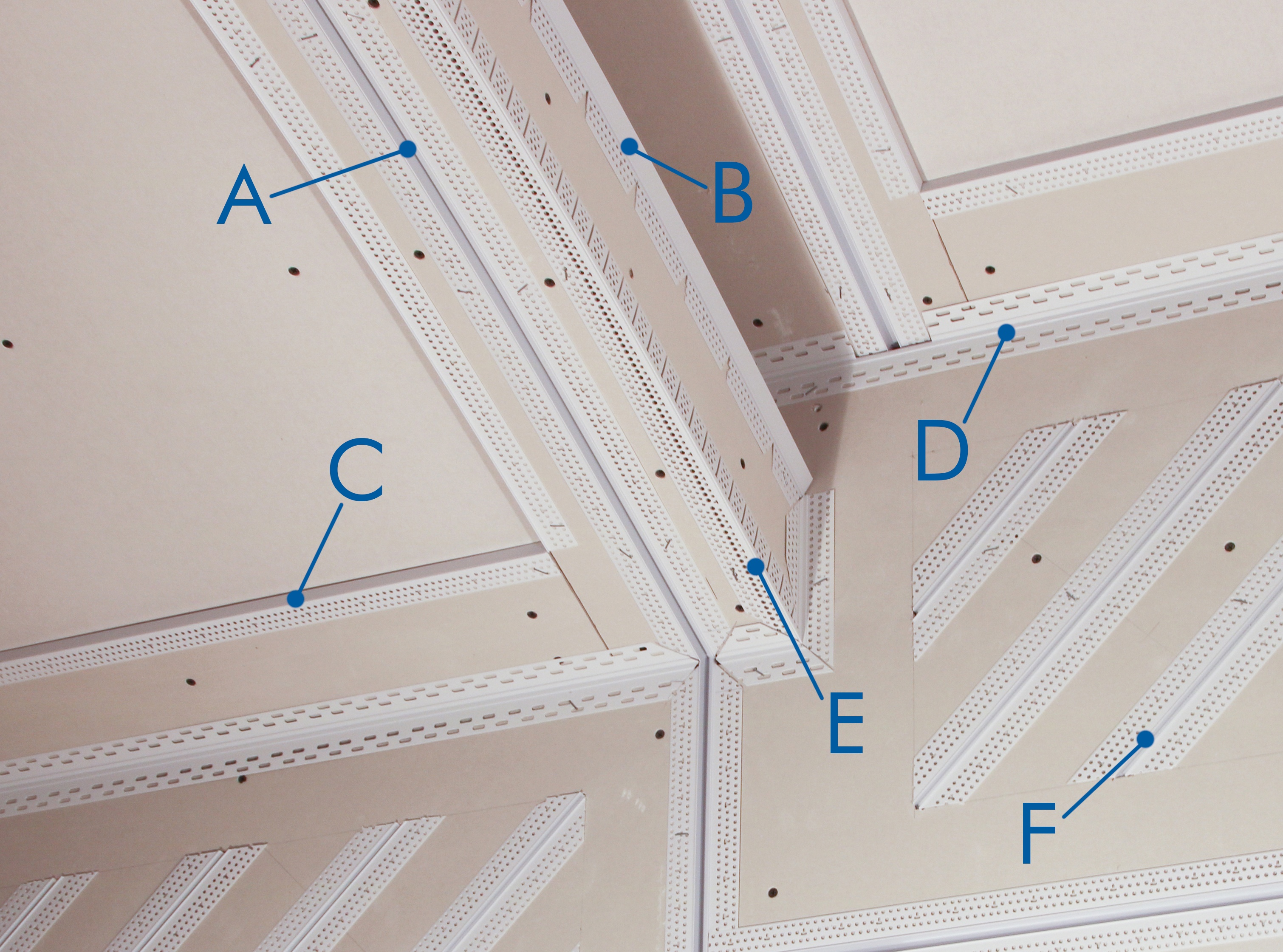 Product call out in ceiling detail.