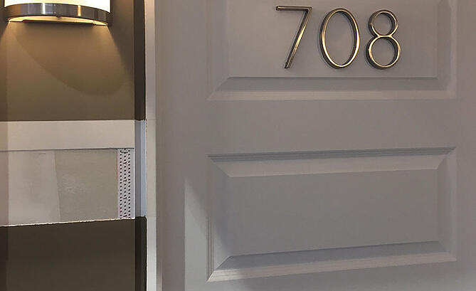 Use reveal and shadow beads in minimalist homes to highlight architectural features, like specialty doors or windows.