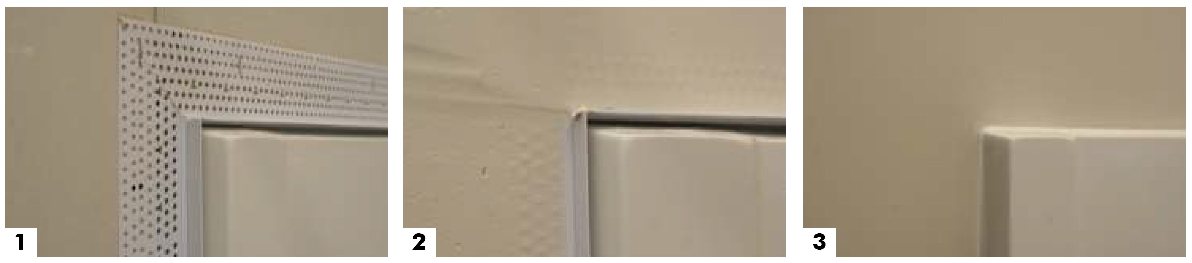 Quickly and easily finish drywall terminating at shower and bath enclosures with Shower Bead.