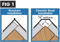 When a decorative corner bead fails to provide the continuous barrier required to maintain fire-rating, two layers of drywall must be installed.