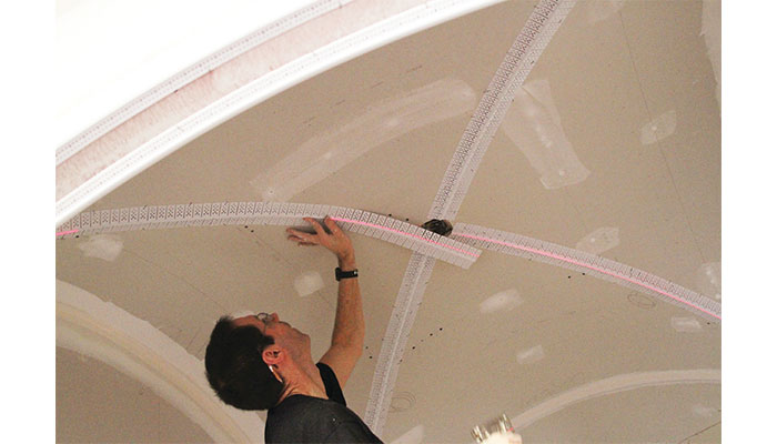 Trim-Tex Jumbo Splayed Double Archway is ideal for groin vaults and finishing splayed outside corner.