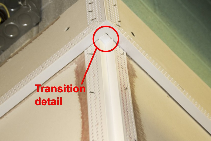 Flawlessly transition Reveal Corner Beads without adaptors to save on cost and labor.