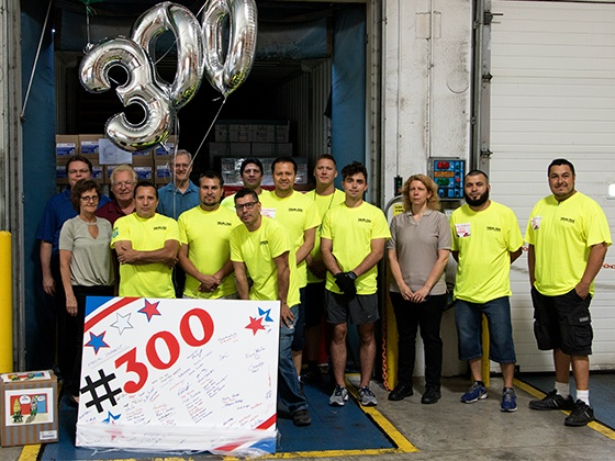 300th Truck to California Distribution Center