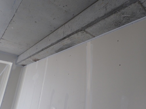 Tear Away Bead installed at the head of wall in the Cambria Hotel in Nashville.