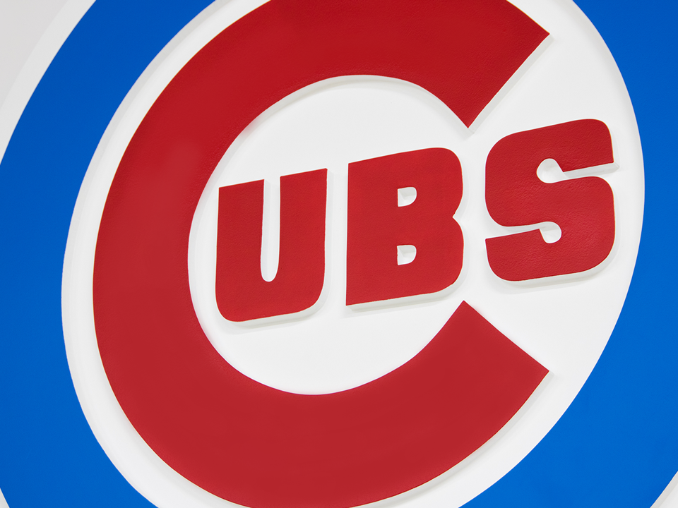 Chicago Cubs Layered Drywall Logo