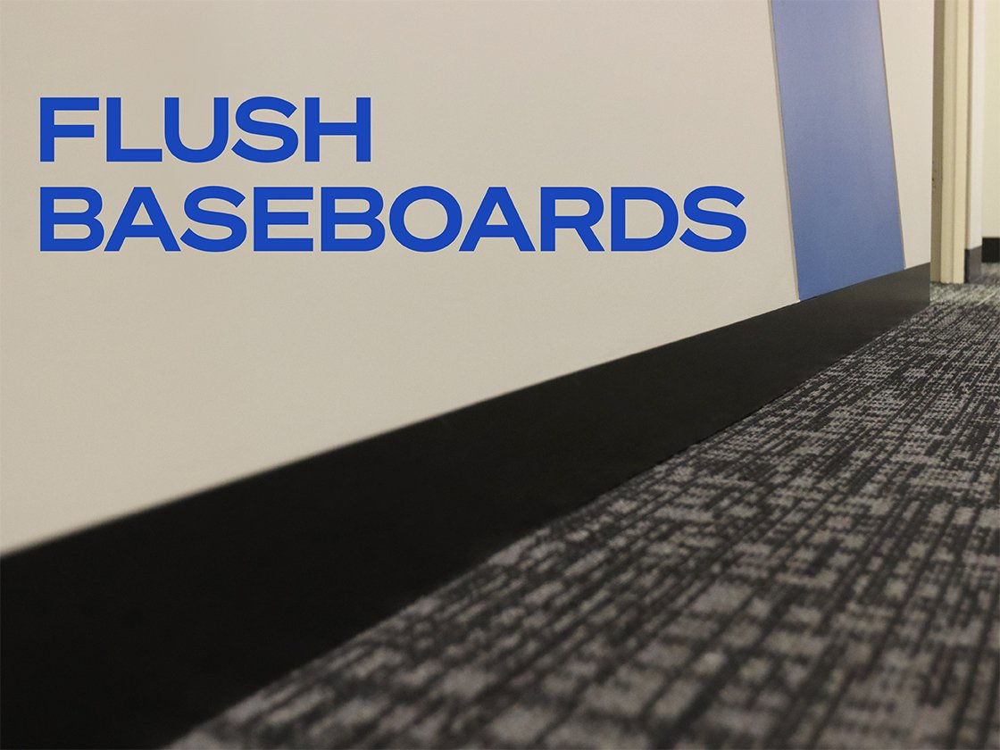 Create Flush Baseboards with Architectural L Bead