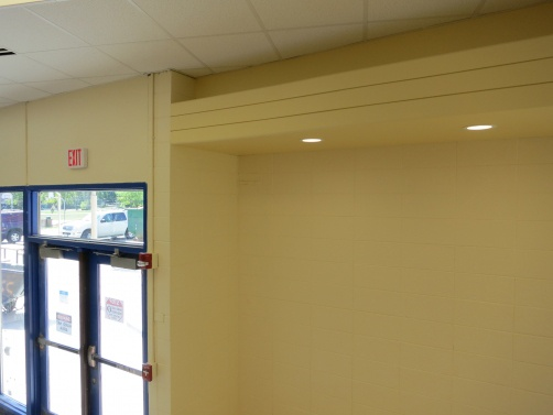 Reveal Beads were installed in Oak Grove Junior High to add visual details to the soffits in Libertyville, IL.