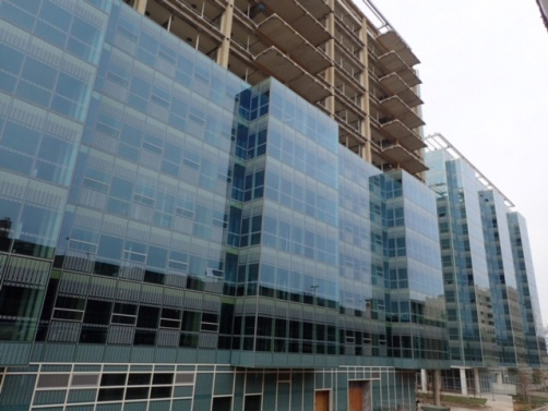 Deflection Bead and Tear Away Bead was installed in Scioto Hal, a 13 story apartment style student housing building at the University of Cincinnati.