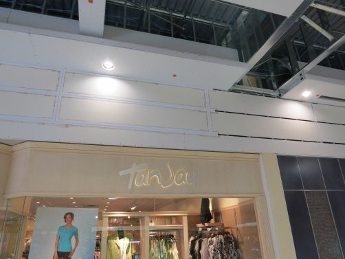 Architectural Reveal Beads were installed at Sherwood Park Mall in Alberta, CA to add visual details to the walls and to provide built in expansion protection.