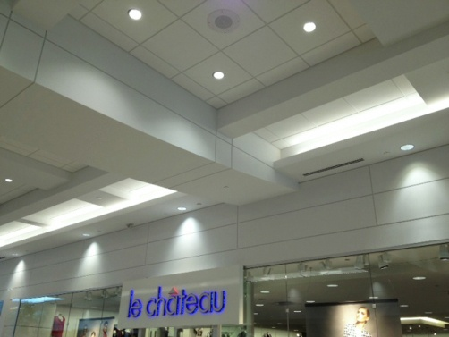 Reveal Beads were installed at Sherwood Park Mall in Alberta, CA to create visual details while also providing built in expansion protection.