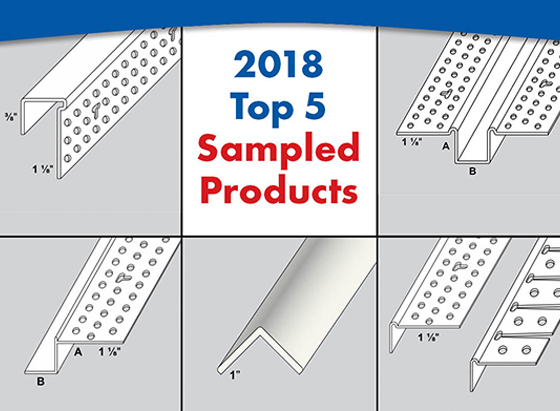 Trim-Tex Top 5 Sampled Products of 2018